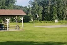 Palmer Park Hoops and Picnic area ( a 5-minute walk)