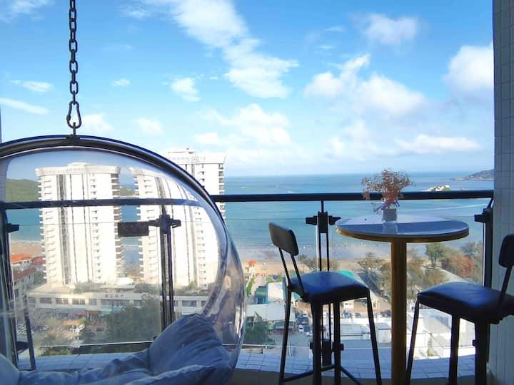 南澳县青奥湾香湖湾酒店18楼 加大1.5米标双床房 无敌海景房 现代装修 舒适可看日出