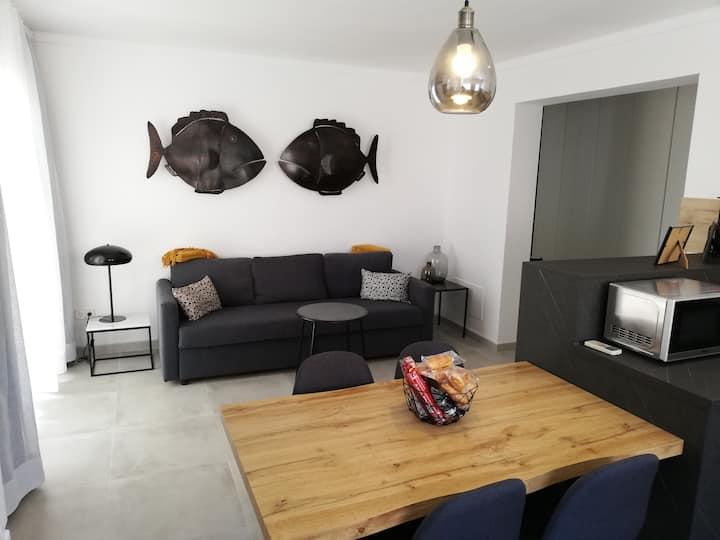 Moderno apartamento en pleno centro de Cala Millor