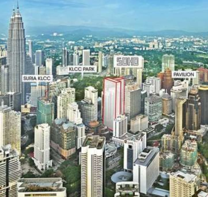 Strategic location between Suria KLCC and Pavilion Mall
