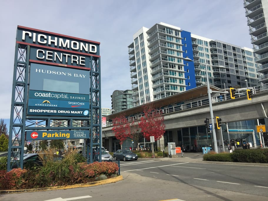 Richmond Centre and Skytrain Brighthouse Station--3 mins walk