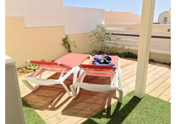 "Holiday Apartment ""Caleta Beach Deluxe"" with Pool, Wi-Fi, Terrace; Parking Available"