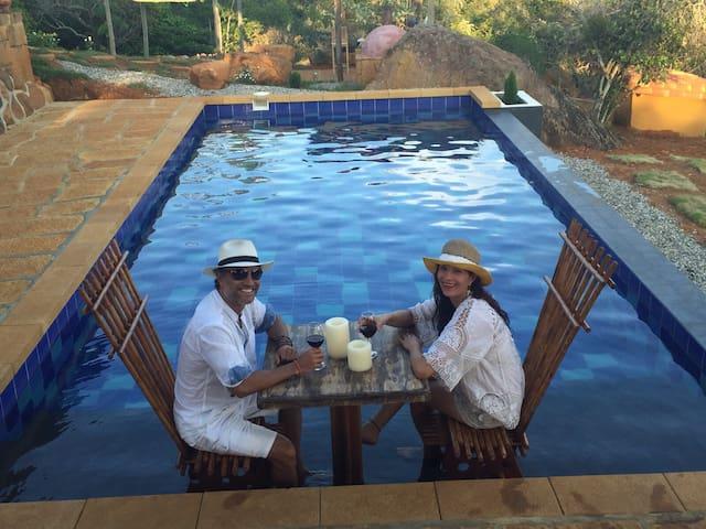 piscina climatizada y salinizada
