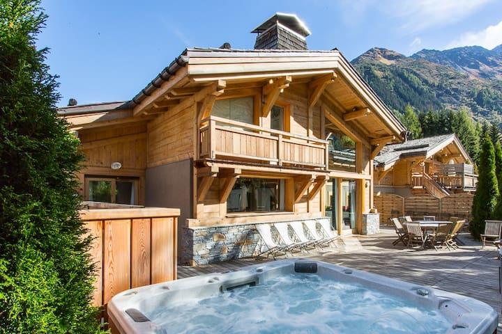 Chalet Quartz - 23 people - pool spa hot tub