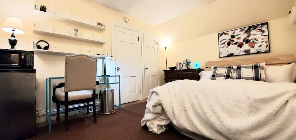 Private Bath/Queen Bed Premier Suite / Netflix inc