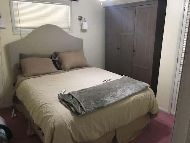 Bigger of 2 bedrooms - Queen Sleep Number Bed.