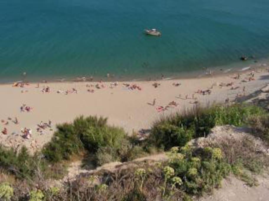 Leucate beach cove to soak up the sun