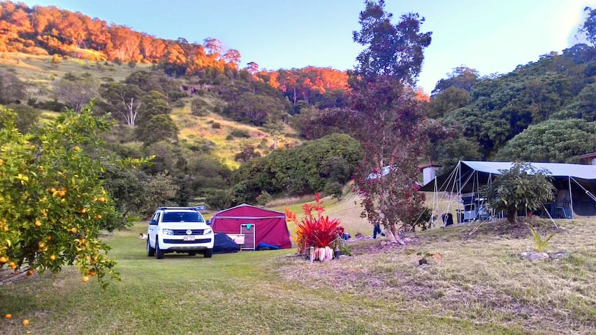 Camping at Point Glorious - Noosa Hinterland