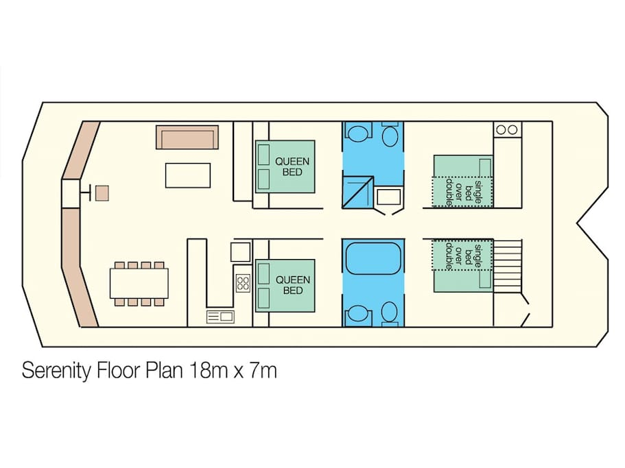 Serenity Main Deck Floor Plan