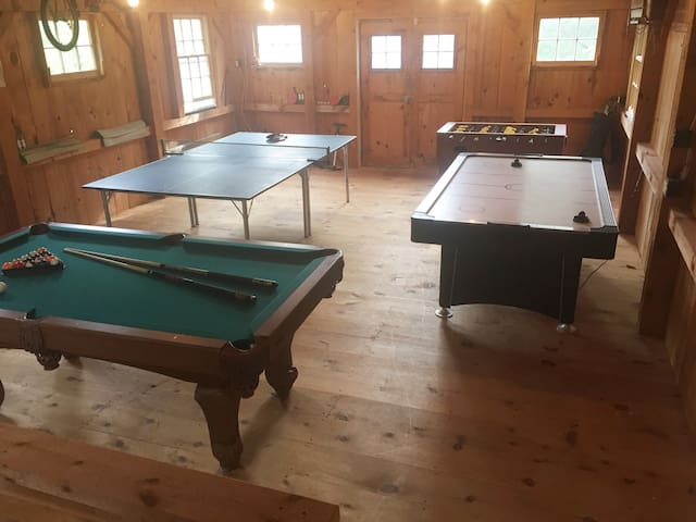 Playroom on the 2nd floor of the barn
