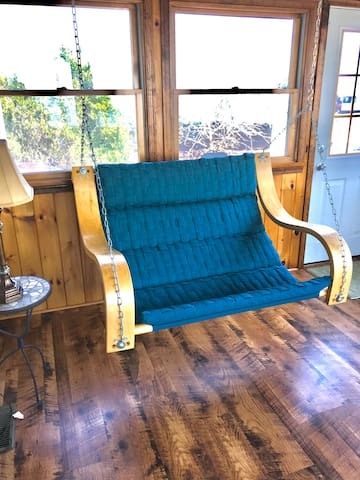 Back porch with swing