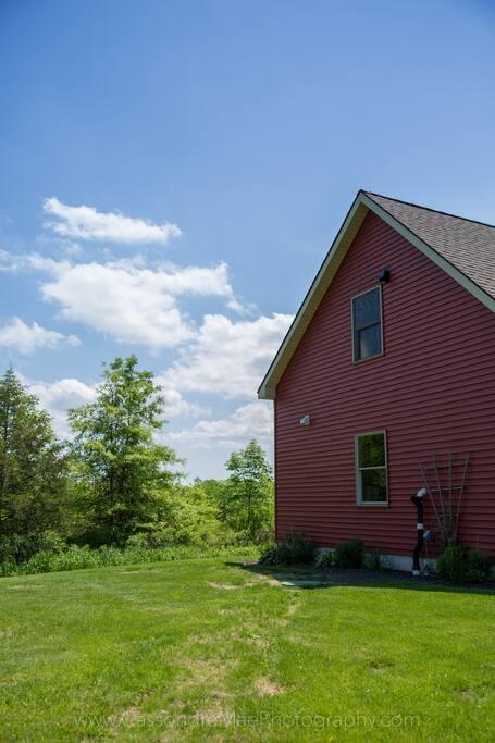 upstairs studio in barn