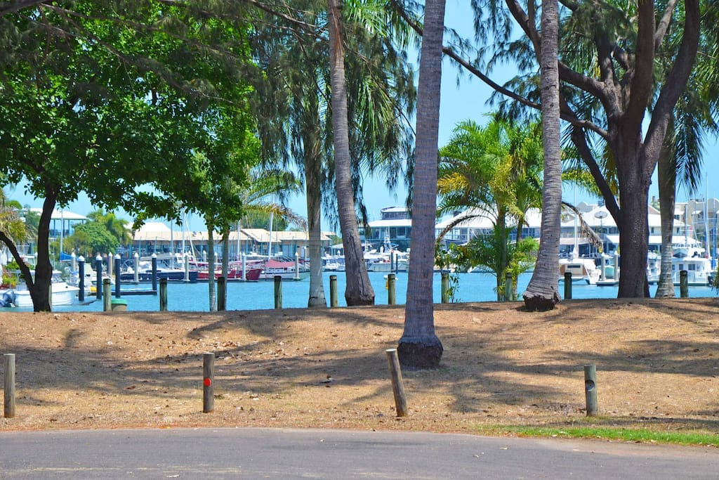 Cullen Bay Marina, view from the end of our street