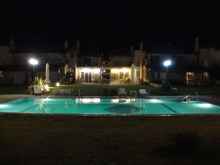 Night view from the pool