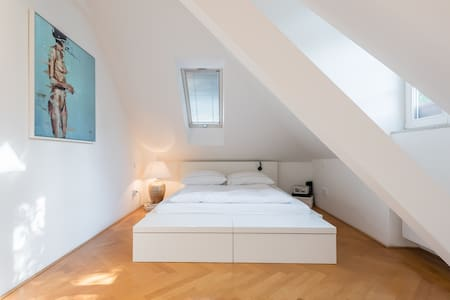 Cozy Room in a Yoga/Surf Apartment Central Munich - Munich - Loft