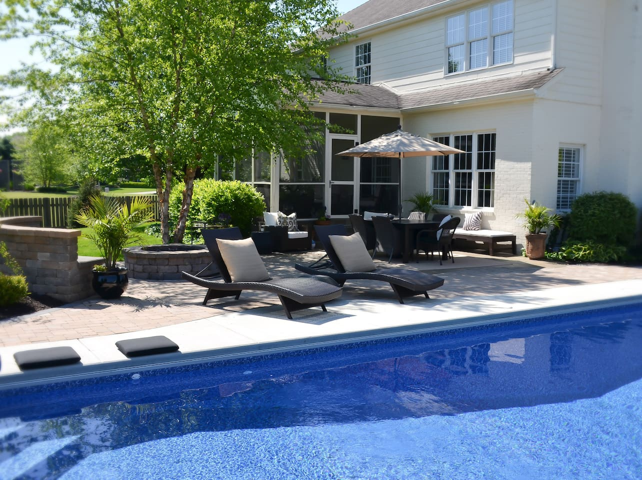 Pool and Firepit