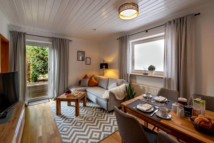 Ferienwohnung-Apartment-Eigenes Badezimmer-Terrass