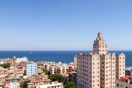 Private room with Panoramic Havana and Sea view - La Habana