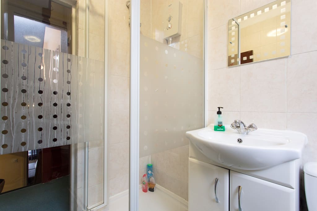 First shared bathroom with shower