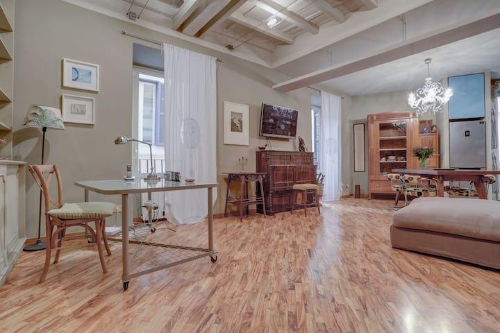 Charming apartment near the Pantheon, long rent
