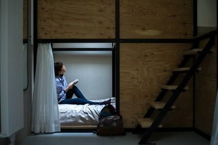 【ゲストハウス ushiyado】 女性専用Dormitory Brown Swiss