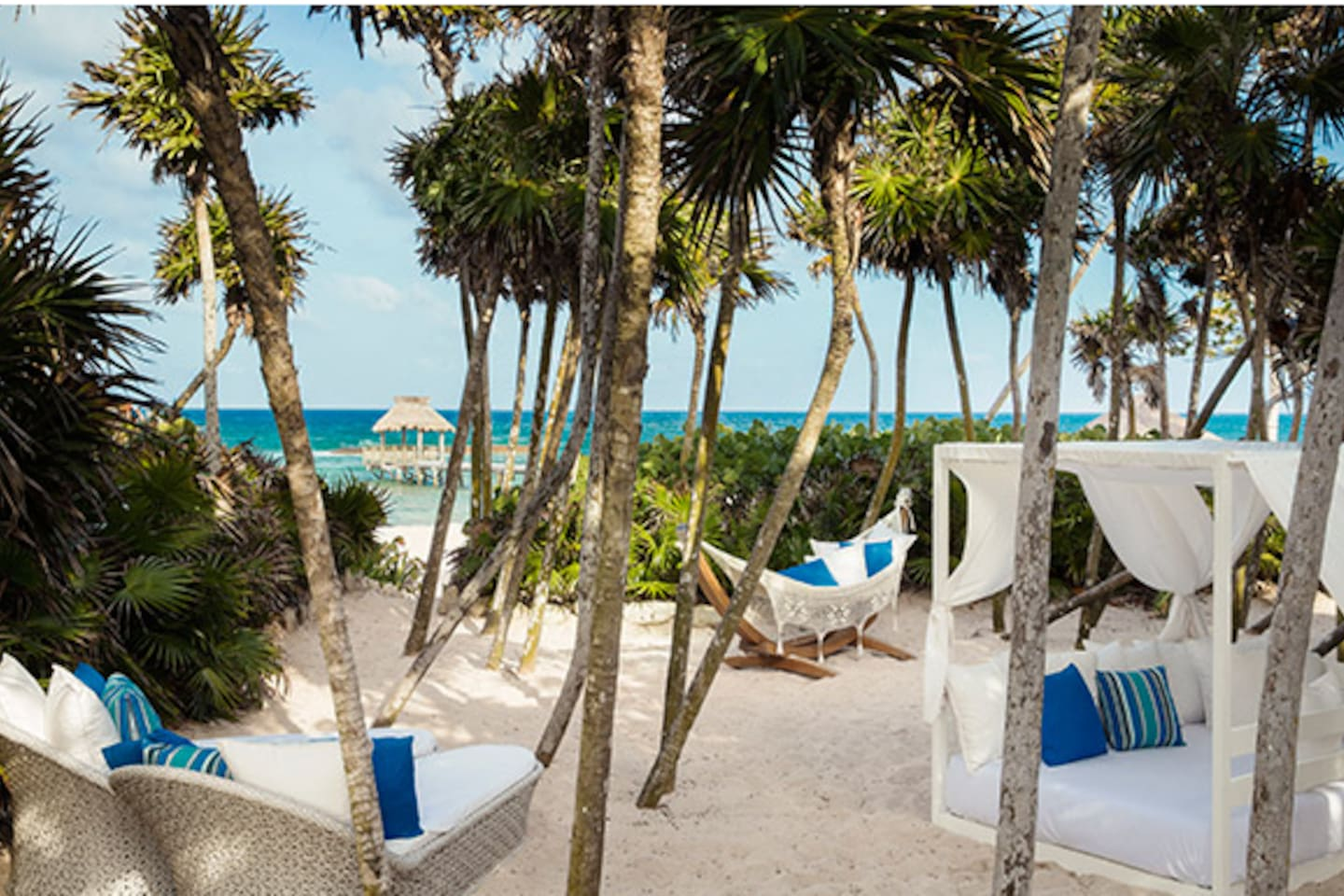 Grande Luxxe secluded beach area and pool