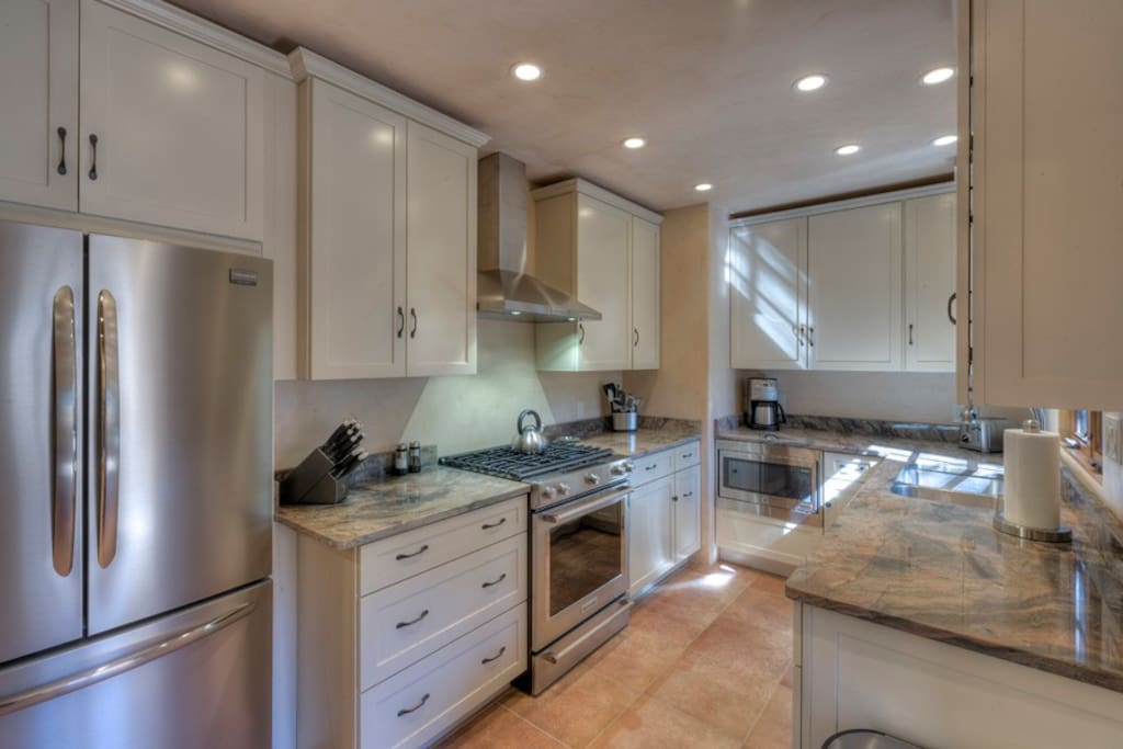 Beautifully renovated and appointed kitchen.  True Luxury at every turn.