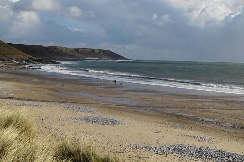 Horton beach, a 5 min. walk away.