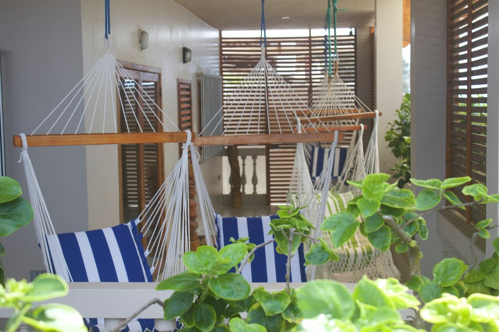 Hang around in your own slice of paradise on the communal terrace