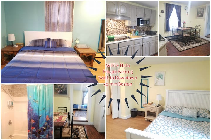✨Lowell 2Br✨ Downtown♦Private Parking