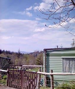 Caravan on smallholding in forest - Gwynedd - Inny