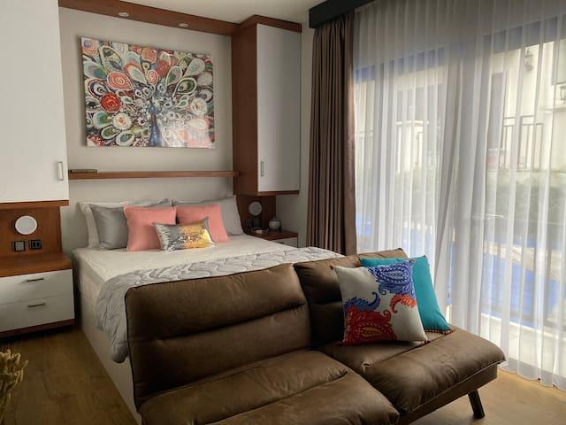 Queen bed & sofa bed