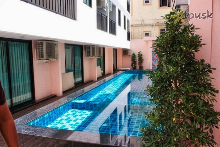 Pool View 200 meter from beach in quiet area of best soi 7
