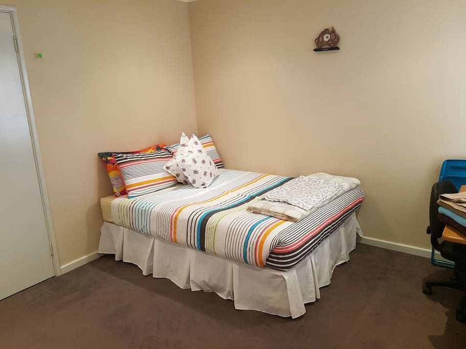 Double bed with mattress, extra double mattress and single mattress avaible