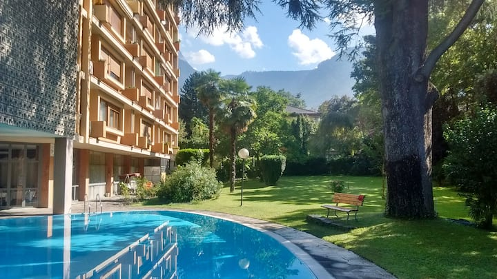 Central Meran (65 m²  apt. with pool/table tennis)