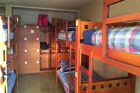 Habitación compartida son 4 literas - Morelia  - Penzion (B&B)