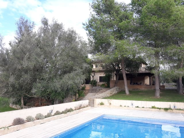 Rural Home Sos Monjos with Pool, Terrace, Vegetable Garden & Wi-Fi; Parking Available