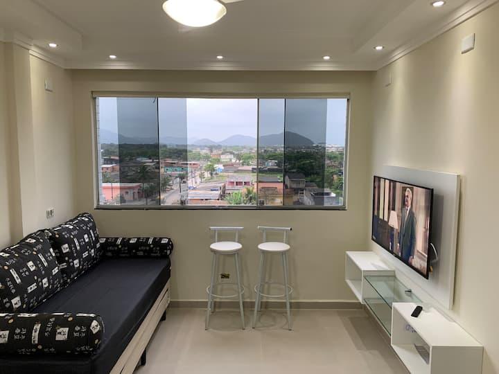 Apartamento 1 dormitório com piscina e lazer