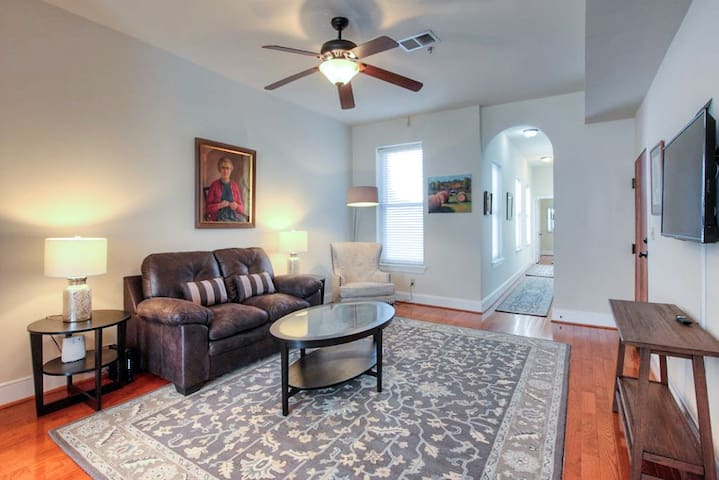 Comfortable open living space with smart TV and free high speed WIFI