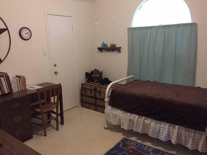 Twin bed bedroom in a Dallas bedroom community