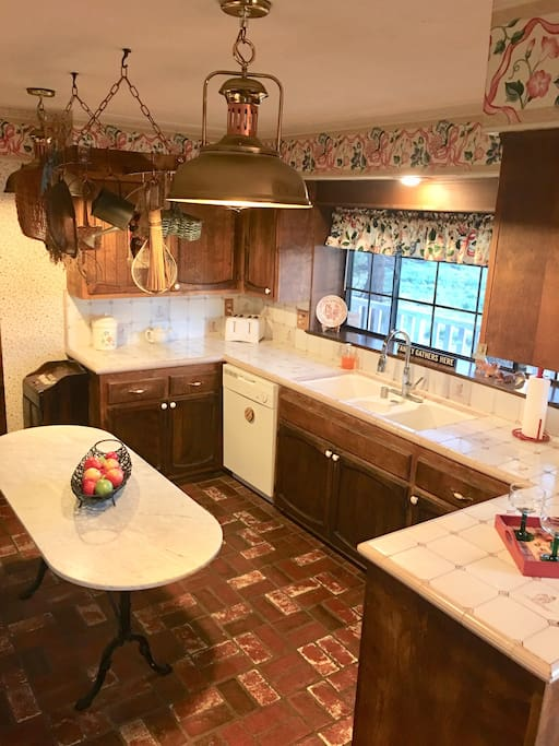 large open kitchen well stocked for multi cooks
