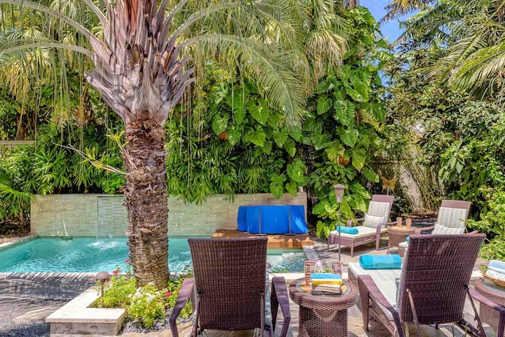 Stay cool on those hot Key West days by relaxing in the pool...
