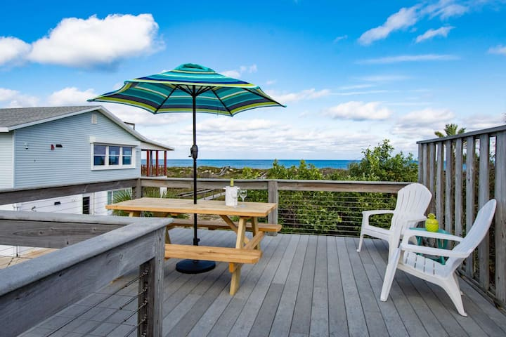 Spectacular Beachfront Views, Deck overlooking Ocean, Garage Parking, Private Beach Access