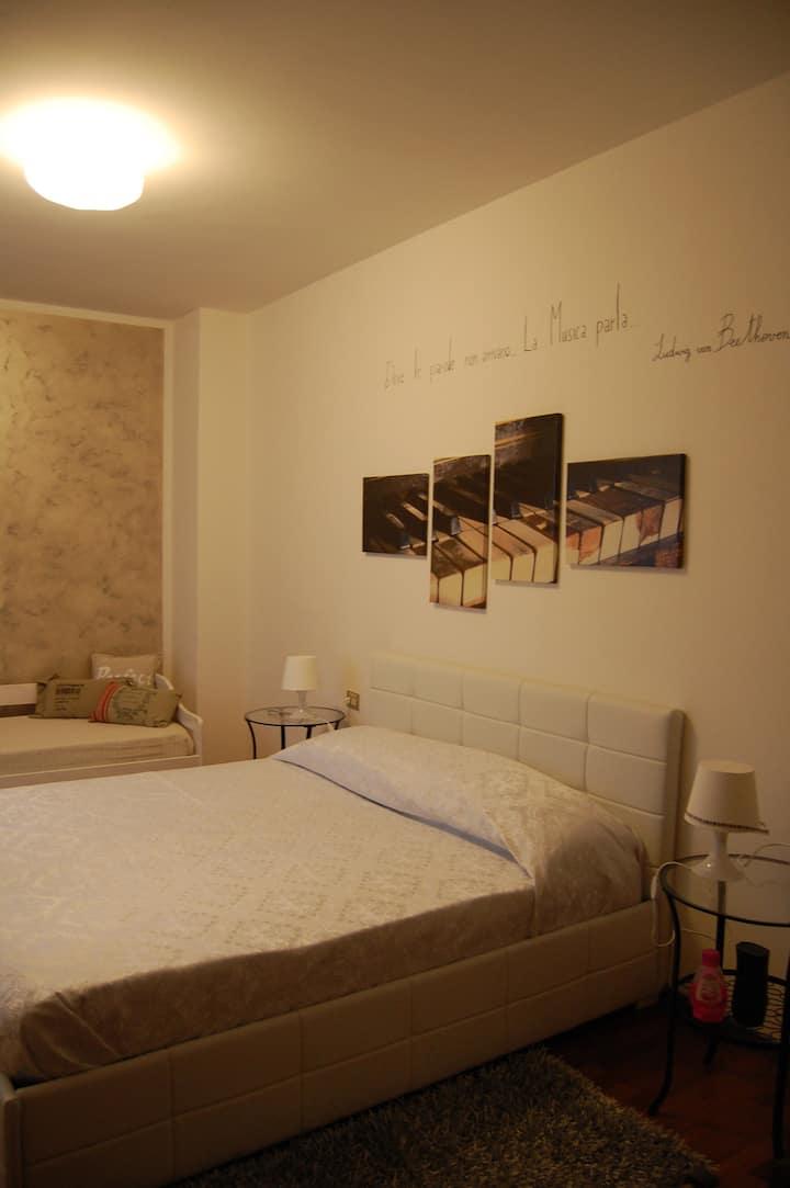 Appartamento 5 posti letto cucina vicino staz. FS