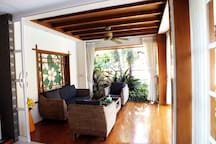 Outside Area with Sliding Door