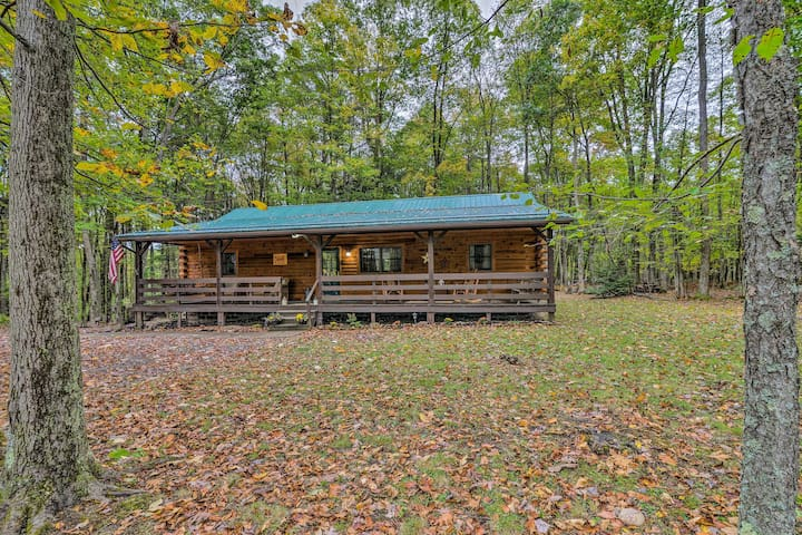 NEW! Log Cabin on 2 Acres, in Heart of Deep Creek!