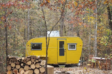 Camp Grits Solar Yellow Camper.