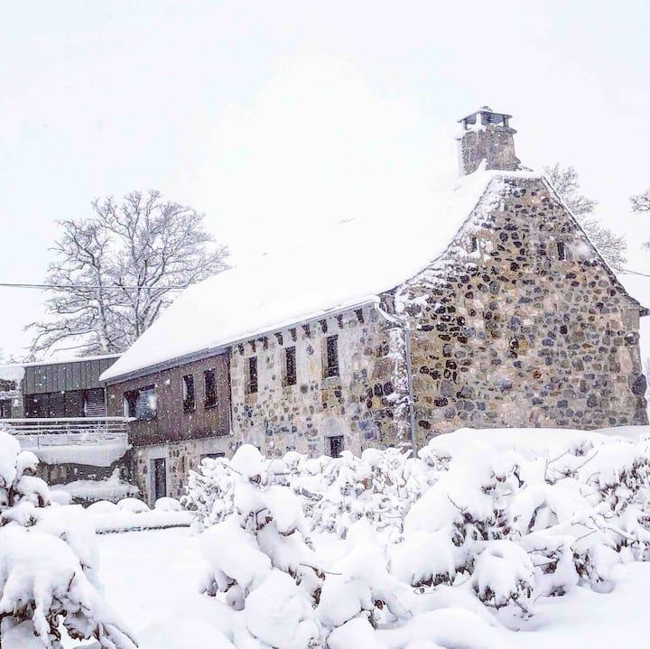 La Maison Robantine, Aubrac, Laguiole, Soulages