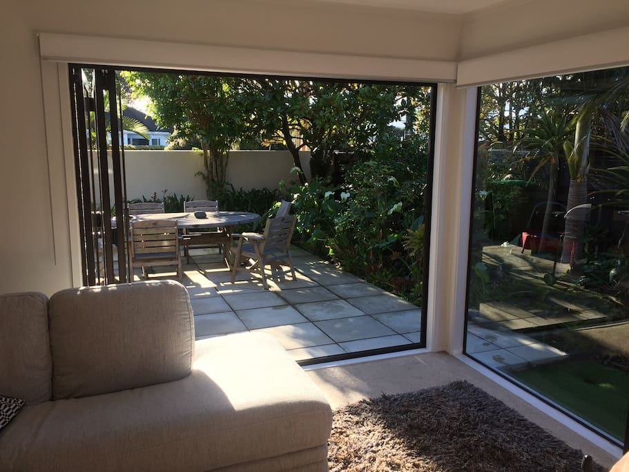 Lounge out to a private north facing courtyard