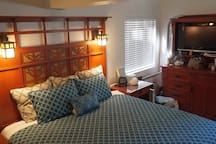 Other view of Master with King Bed and smart TV